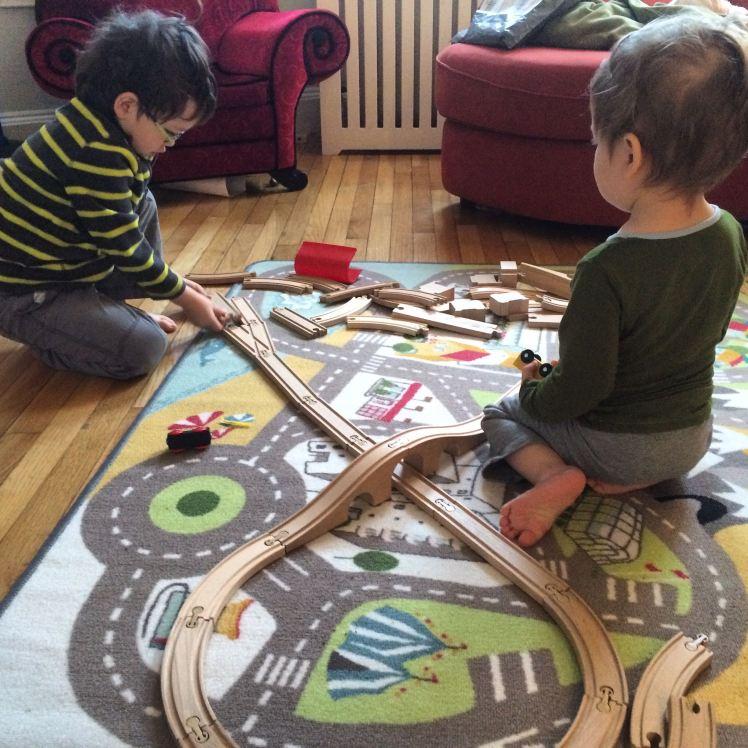Morning train construction