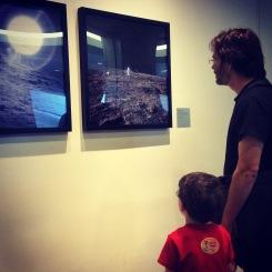 Photos of astronauts walking on the moon