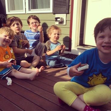 Ice cream treats with neighbors