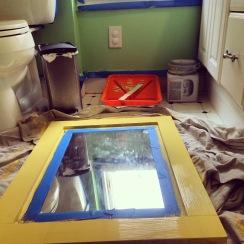 Painting walls & mirror