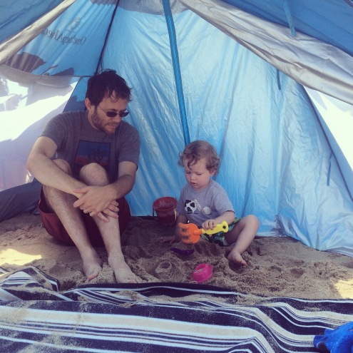 Sandcastles in the tent