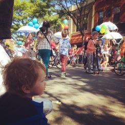Little One enjoying the parade