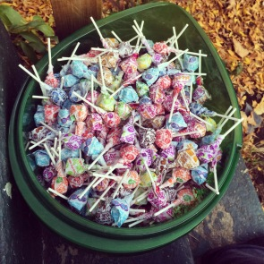 Big bucket of candy