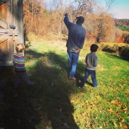 Showing the kids the barn