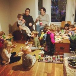 Lots of kids. Lots of food.