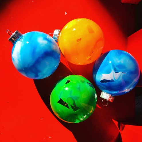 Crayon filled ornaments