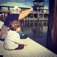 Crabbing on the dock of the bay