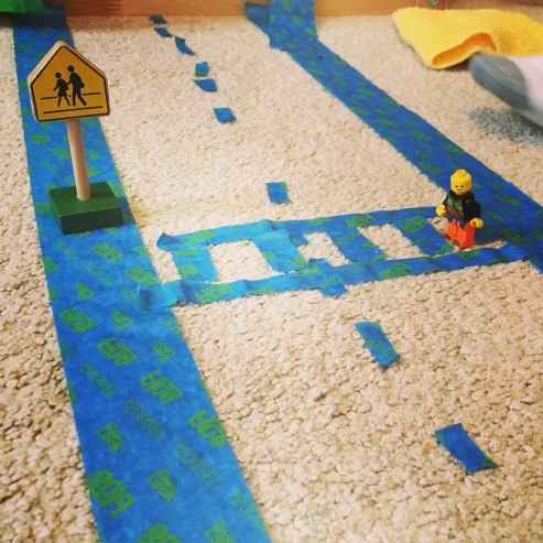 Lego Man Crosswalk