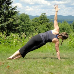 Side plank with a view