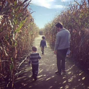 Strolling through the corn maze