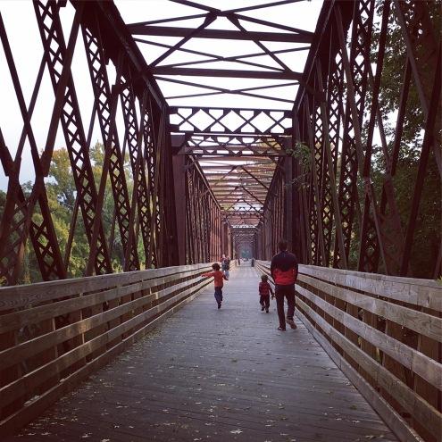 A run across the bridge