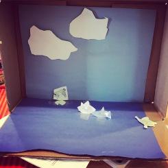 Pond diorama
