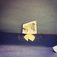 Diorama frog