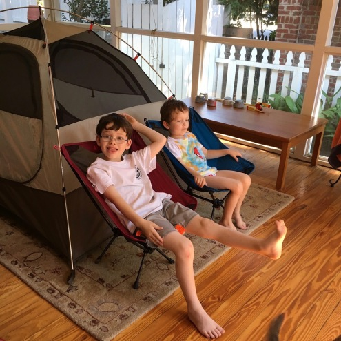 Back porch camping