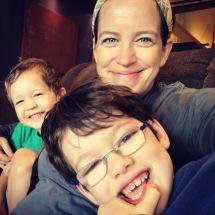 Coffee Shop family selfie